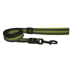 Scream Relective Padded Leash (Loud Green)