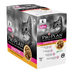 Pro Plan Adult Sensitive Chicken Gravy Wet Cat Food Pouches 85g x 12