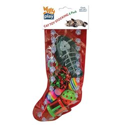 Kitty Play Christmas Cat Toy Stocking 6 Pack