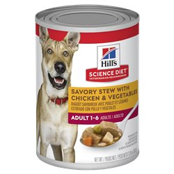Hill's Science Diet Adult Savoury Stew Chicken & Vegetables Canned Dog Food