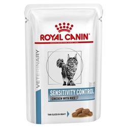 Royal Canin Feline Veterinary Diet Sensitivy Control Wet Pouches 85g x 12