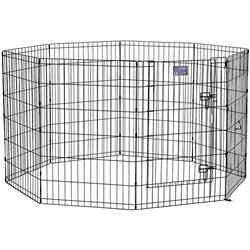 Midwest Blach Exercise Pen With Door 90cm