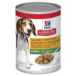 Hill's Science Diet Puppy Savoury Stew Chicken & Vegetables Canned Dog Food