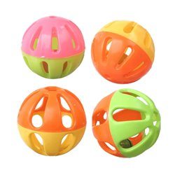 SuperBird Birdie Balls Foot Toy (4pk) 7cm
