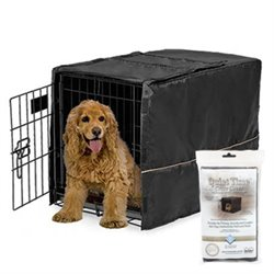 Quiet Time Crate Cover Black Polyester