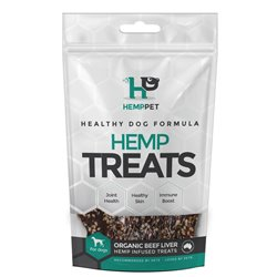 HempPet Orgnanic Liver Hemp Infused Treats for Dogs 80g