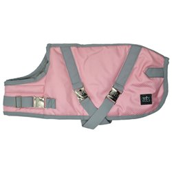 Zeez Supreme Dog Coat Flamingo Pink/ Grey