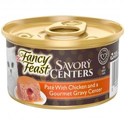 Fancy Feast Savory Centers Pate with Chicken & a Gourmet Gravy Center