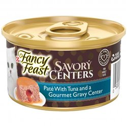 Fancy Feast Savory Centers Pate With Tuna and a Gourmet Gravy Center