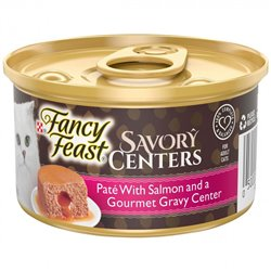 Fancy Feast Savory Centers Pate with Salmon and a Gourmet Gravy Center