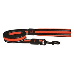 Scream Reflective Padded Leash (Loud Orange)