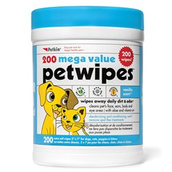 Petkin Mega Value Pet Wipes 200pk