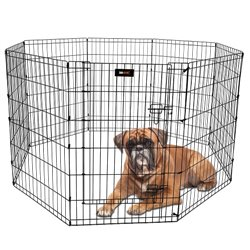 Metal Safety Excercise Dog Pen – Medium