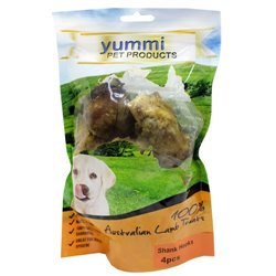 Yummi Lamb Shank Hooks 4 Pc Dog Treat