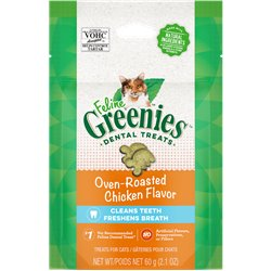 Greenies Feline Oven Roasted Chicken Cat Treats 60g