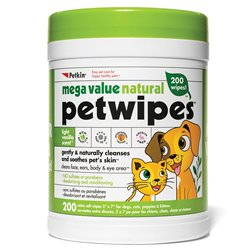 Petkin Mega Value Natural Pet Wipes 200pk