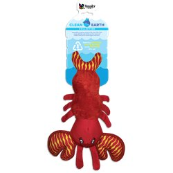 Spunky Pup Clean Earth Plush Lobster