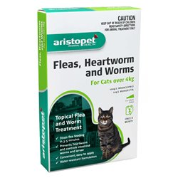 Aristopet Spot-On Flea, Heartwomr & Worm Treatment for Cats Over 4kg