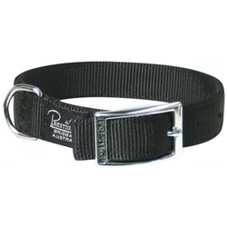 "Prestige Double Layer Nylon Collar 1"" - 20"" Black"