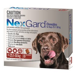 NexGard for Large Dogs 25.1-50kg Red