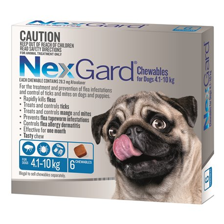 NexGard for Small Dogs 4.1-10kg Blue