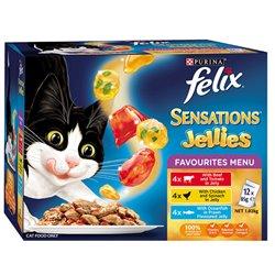 Felix Sensations Jellies Favourites Menu 12 x 85g