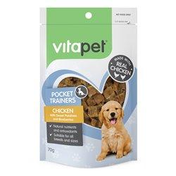 Vitapet Pocket Trainer Puppy Treats - Chicken with Sweet Potato & Blueberries