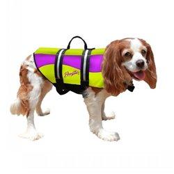 Pawz Neoprene Dog Life Jacket - Yellow & Purple