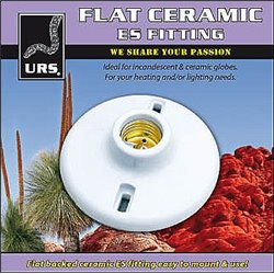 URS Flat Ceramic ES Fitting Globe Holder