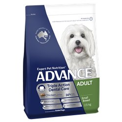 Advance Small Triple Action Dental Care Chicken with Rice Dry Dog Food