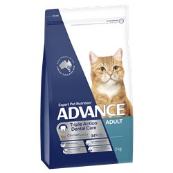 Advance Adult Triple Action Dental Care Chicken With Rice Dry Cat Food