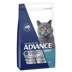 Advance Adult Sensitive Dry Cat Food Turkey Recipe