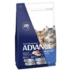Advance Multi Cat Chicken & Salmon with Rice Dry Cat Food