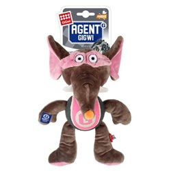 Gigwi Agent Elephant Plush with Tennis Ball
