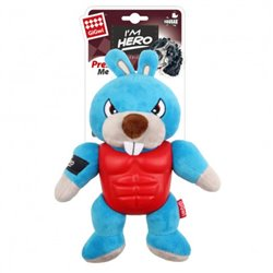 Gigwi Im Hero Armour Rabbit Plush with Squeak