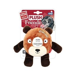 Gigwi Plush Rubber Ring Bear (Medium)