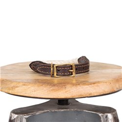 Mog & Bone Leather Brass Rope Collar Natural