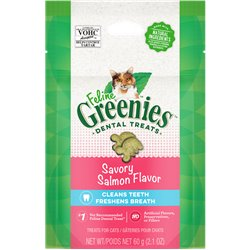 Greenies Feline Savory Salmon Cat Treats 60g