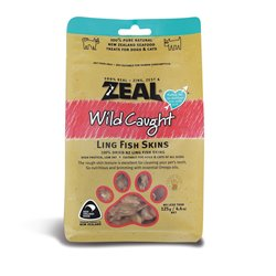 Zeal Wild Caught Naturals Ling Fish Skins 125g