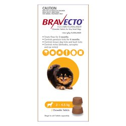 Bravecto Very Small Dog 2-4.5kg (2pk)