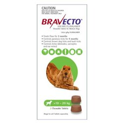 Bravecto Medium Dog 10-20kg (2pk)