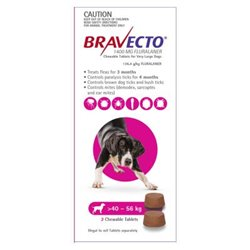 Bravecto Very Large Dog 40-56kg (2pk)