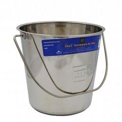 Zeez Stainless Steel Round Bucket Pail (8.5L)