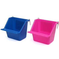 Plastic Coop Cups with Perch (11.5cm)