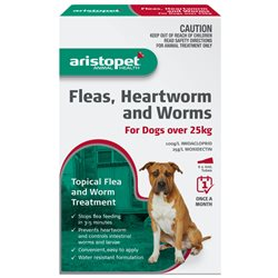 Aristopet Spot-On Flea, Heartworm & Worm Treatment for Dogs Over 25kg