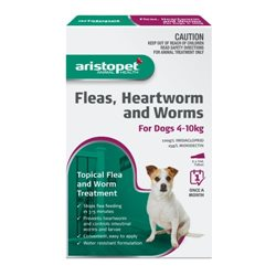 Aristopet Spot-On Flea, Heartworm & Worm Treatment for Dogs 4-10kg