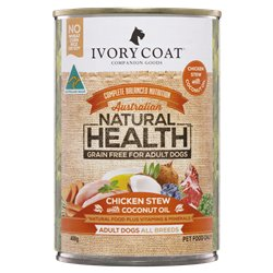Ivory Coat Chicken & Coconut Stew Wet Dog Food Can 400g