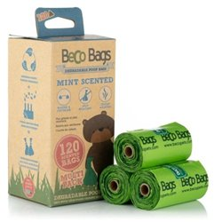 Beco Bags 120pk Mint Scented Eco Friendly Poop Bags