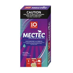 iO Mectec Pour-On for Beef and Dairy Cattle (Ivermectin) 1L