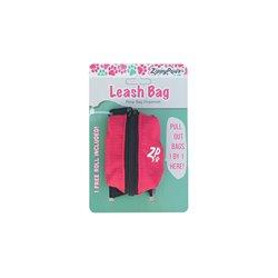 ZippyPaws Adventure Leash Bag Waste Bad Dispenser - Hibiscus Pink